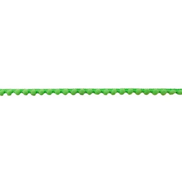 Bommelborte Mini uni neon grün 7 mm