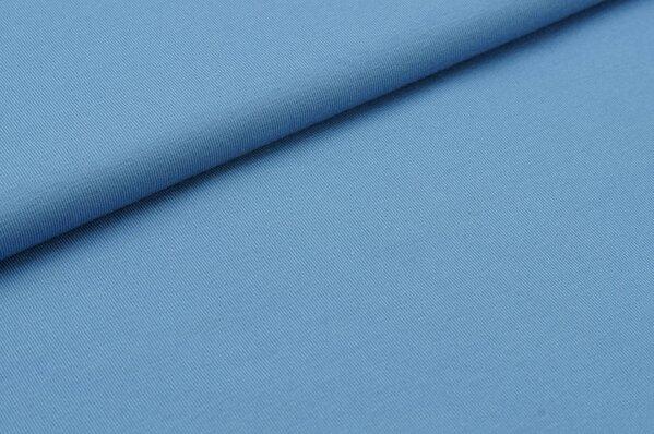 Baumwoll-Jersey uni pastell blau