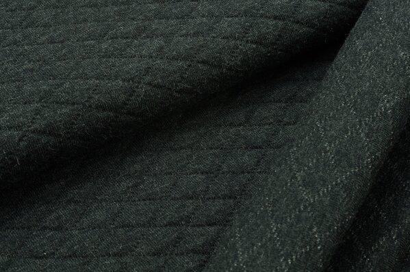 Stepp-Stoff Uni sehr dunkelgrau melange Steppsweat
