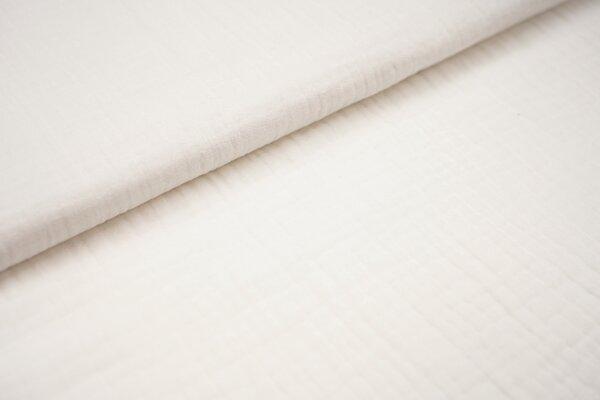 Musselin Stoff 3-lagig Triple Gauze uni off white