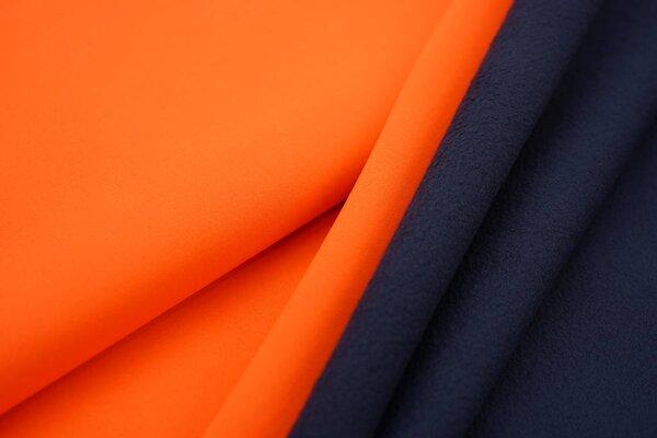 Softshell-Stoff uni neon orange