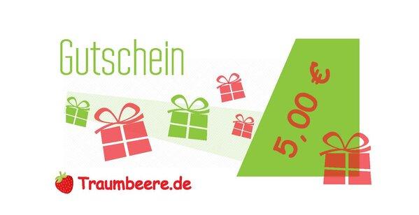 Geschenkgutschein 5 Euro (Versand per E-Mail)