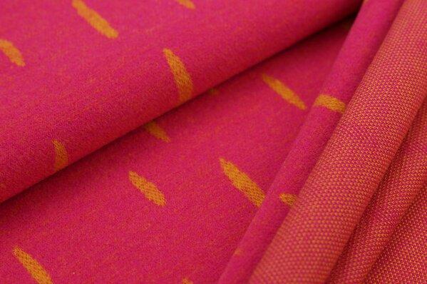 Kuschel Jacquard-Sweat Max senf ovale Tropfen auf amarant pink