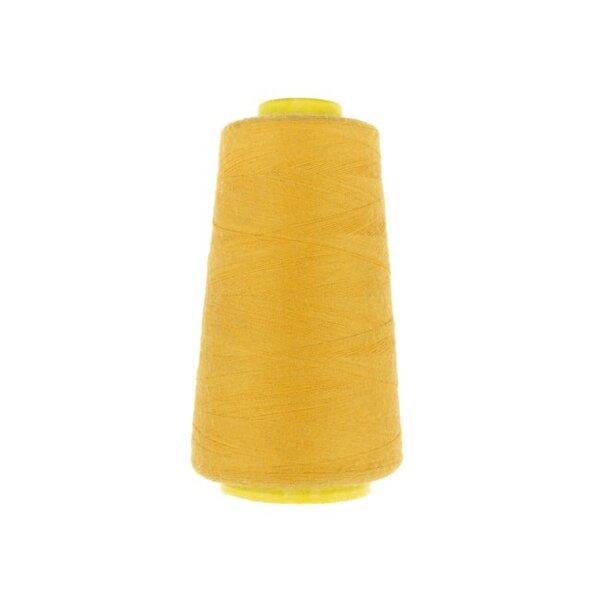 1 Rolle Overlockgarn Nähgarn dunkel gelb 2740 m Lauflänge 40 S20 Fadenstärke
