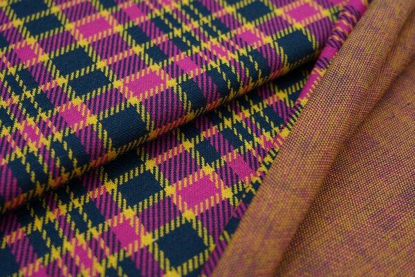 Jacquard-Sweat Ben Karo Muster navy blau / senf / amarant pink