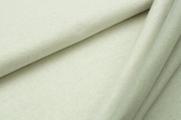 Jacquard-Sweat Ben off white Uni mit hellgrau und off white Rückseite