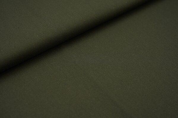 Canvas-Stoff Baumwoll Dekostoff einfarbig uni khaki