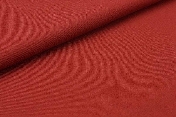 Baumwoll-Jersey uni kupferbraun