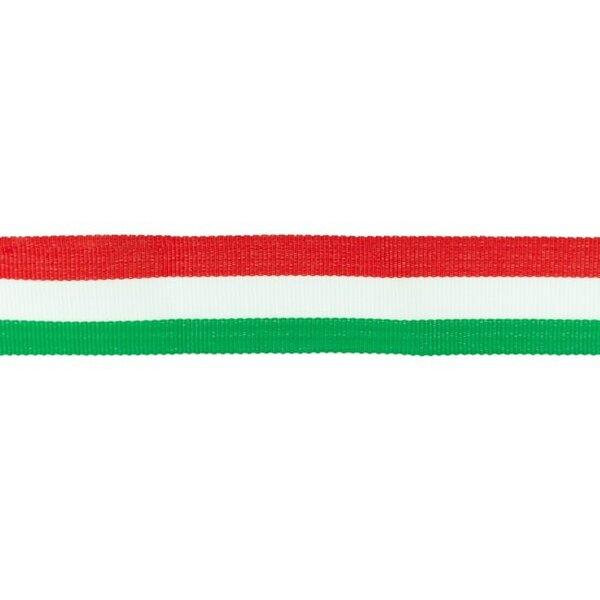 Ripsband Zierband mit Streifen rot weiß grün 30 mm
