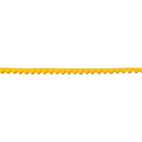 Bommelborte Mini uni gelb 7 mm