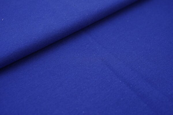 Bündchen glatt uni kobaldblau