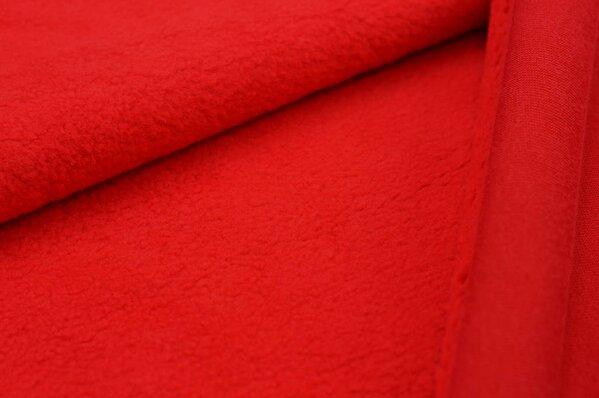 Baumwoll-Fleece uni rot