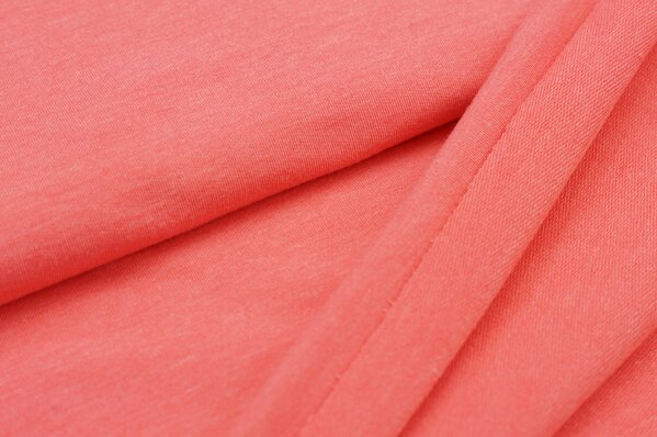 XXL Sommersweat LILLY koralle meliert coral