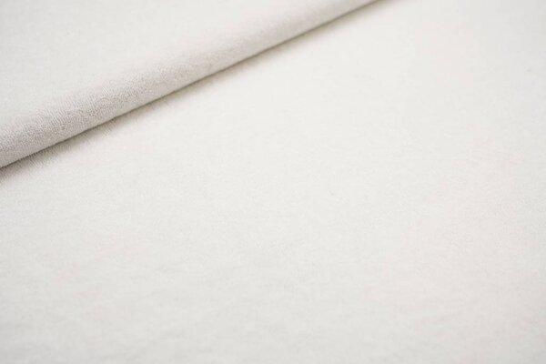 Stretch Frottee uni weiß dünner elastischer Frotteestoff