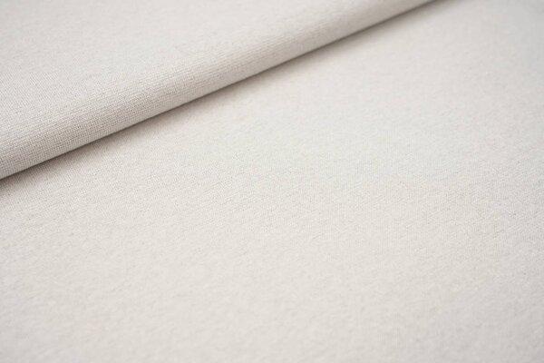 Glattes Glitzer Bündchen off white mit silber