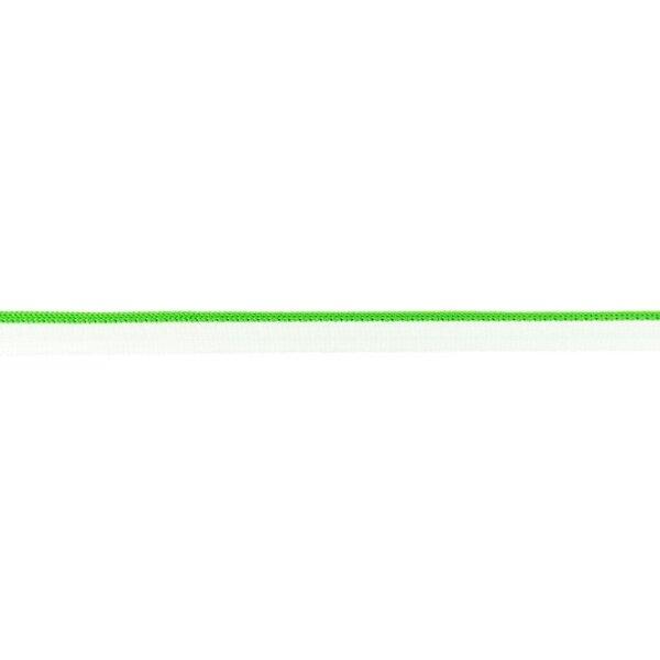 Duo Paspelband zweifarbige Streifen weiß / grasgrün