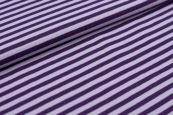 Baumwoll-Jersey Streifen Ringel lila / hell lila