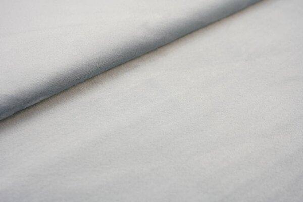Nicki Fleece-Stoff uni grau