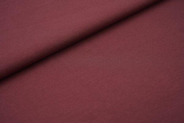 weicher Baumwoll Jersey Uni dunkel bordeaux