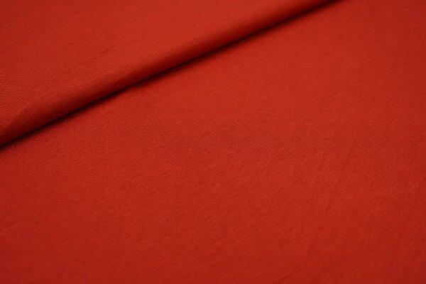 Viskose-Jersey uni rostorange
