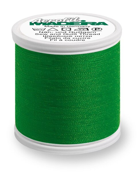 Madeira Nähgarn Aerofil No. 35 extra stark Farbe 8500 grün
