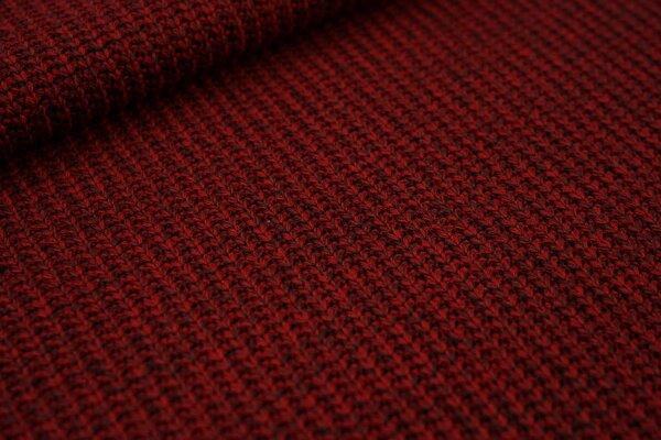 Grober Strickstoff Kabel uni rot meliert Strickware