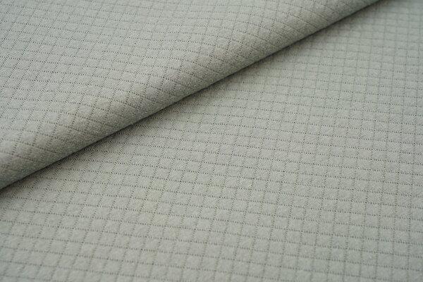 Baumwoll Stepp-Stoff uni mit Rauten Muster Double Face altmint