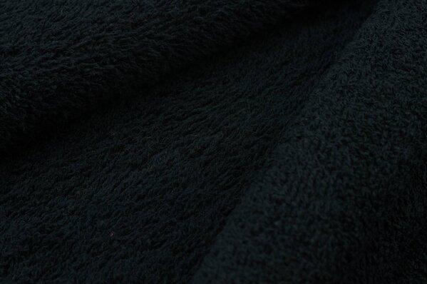 Frottee Stoff uni schwarz