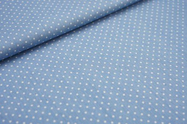 Feiner dünner Jeansstoff in hellblau mit Punkten Blusenjeans