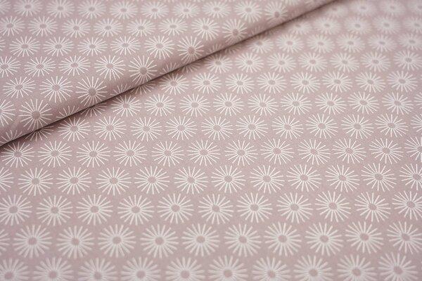 Baumwoll-Stoff mit Blumen pastell violett / weiß