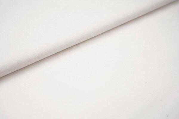 Baumwoll-Jersey Recycelt einfarbig uni weiss meliert