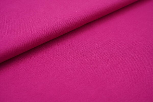 Glattes Organic Bündchen fuchsia pink