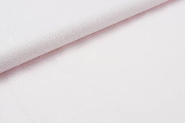 Baumwoll-Jersey uni weißrosa
