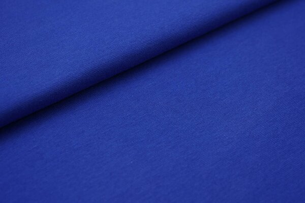 Glattes Organic Bündchen royalblau