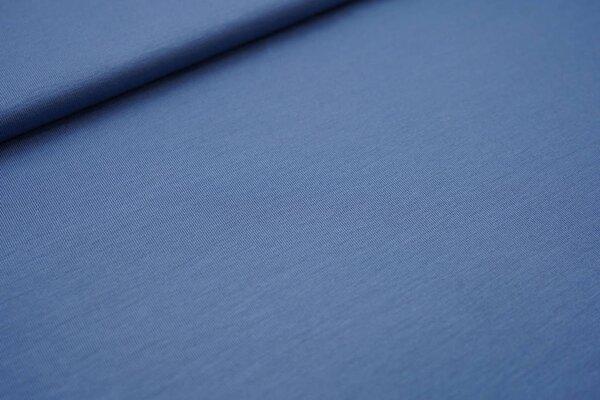 Bambus-Jersey uni taupe blau