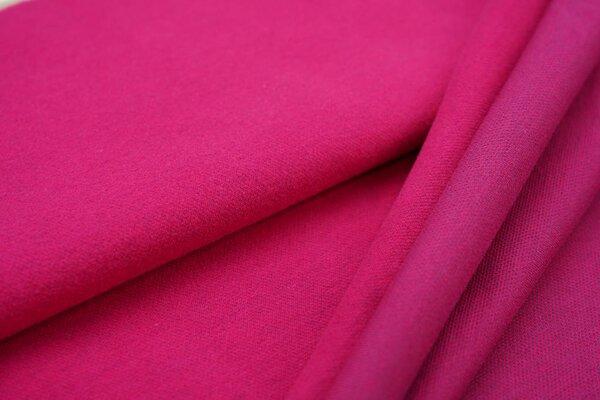 Kuschel Jacquard-Sweat Max Uni amarant pink mit lila