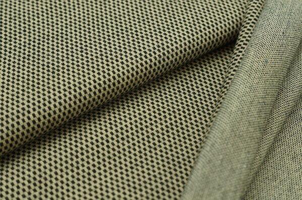 Jacquard-Sweat Ben kleine Vierecke beige / schwarz