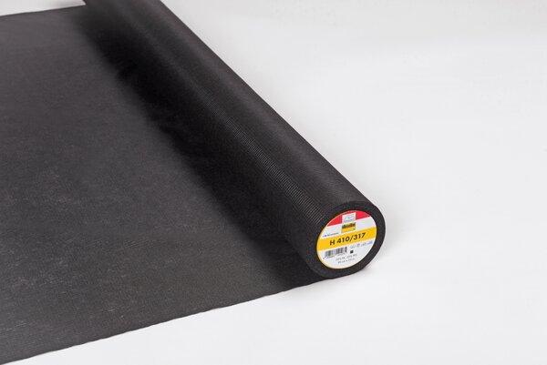 Vlieseline mittelschwere Bügeleinlage H 410 grafit grauschwarz
