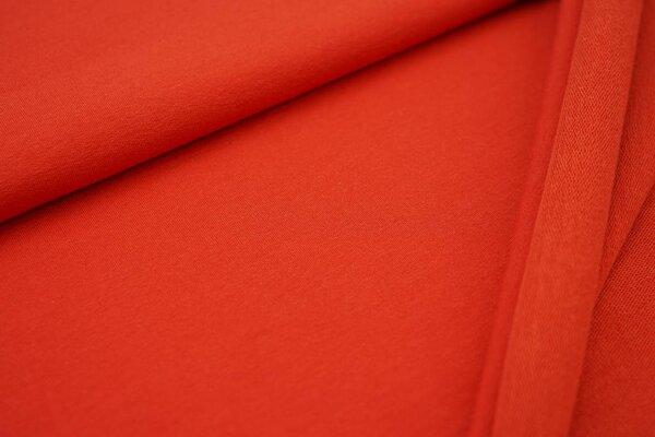 Baumwoll-Sweat MARIE uni orangerot