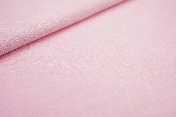 Stretch Frottee uni rosa dünner elastischer Frotteestoff
