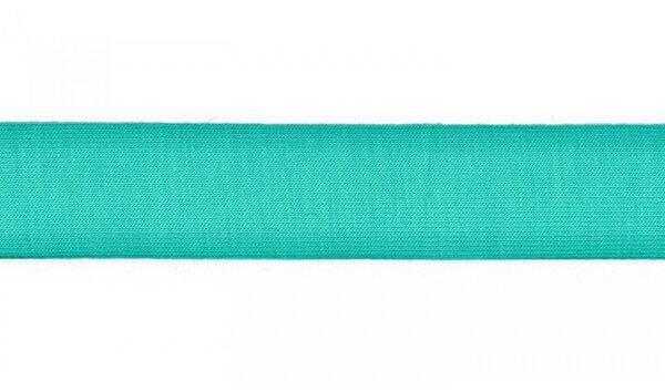 Jersey Schrägband uni mint seegrün 20 mm Einfassband