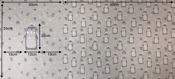 Panel Jacquard-Sweat Ben Pinguin / Dreieck hellgrau taupe blau off white Rapport