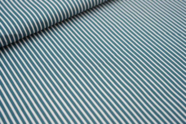 Baumwollstoff schmale Streifen dunkelgrün / weiß Baumwolle