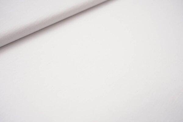 Sommer T-Shirt-Stoff / leichter Jersey uni weiß