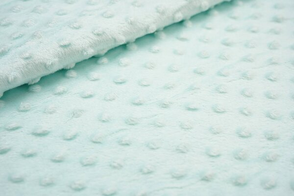 Minky Bubble Fleece Noppen Punkte uni mint