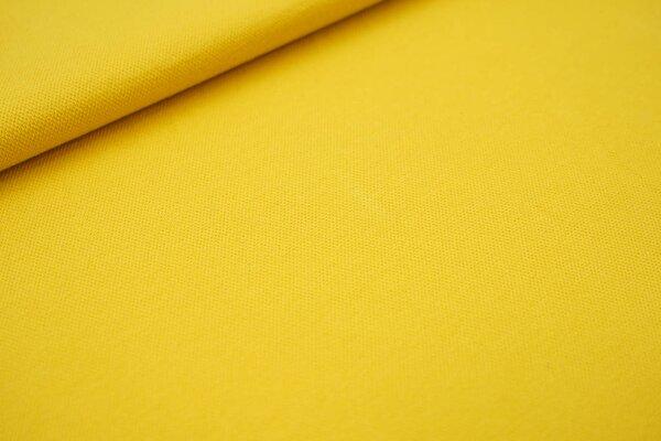 Baumwoll-Jersey mit Struktur Piqué Stoff uni senfgelb
