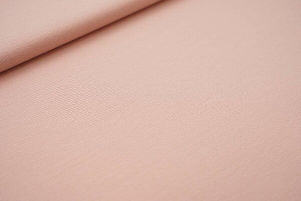 Baumwoll-Jersey uni pastell rosa