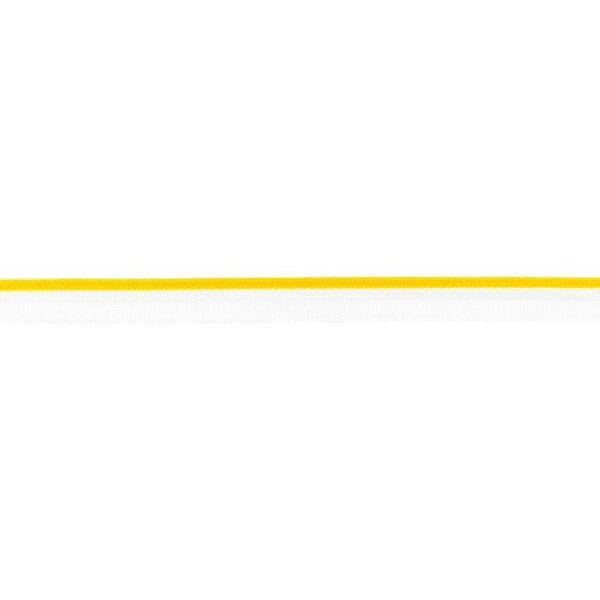 Duo Paspelband zweifarbige Streifen weiß / dunkel gelb