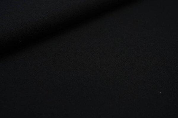 Kuscheliger dicker uni Baumwoll-Fleece Stoff schwarz