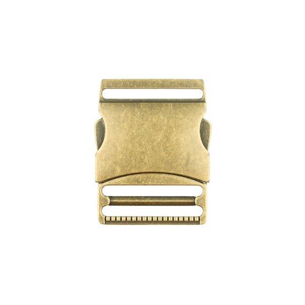 Metall Steckschließe 40 mm messing antikgold Steckschnalle Taschenverschluss